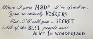 Alice in Wonderland Quote