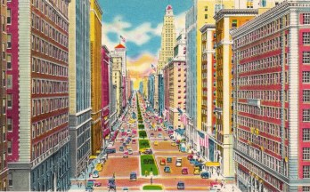 Walk in New York - Vintage - Postcard - Park Avenue.jpg