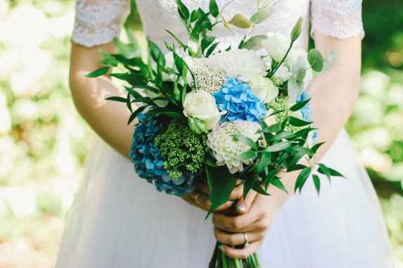 beautiful blur bouquet bridal