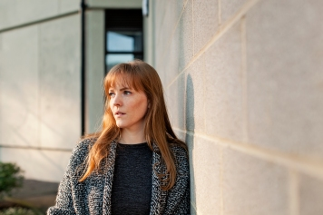 Emma Healey, photographed at the UEA campus, Norwich.