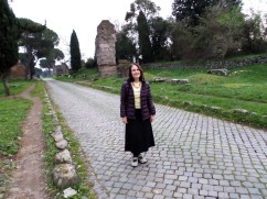 Margaret's personal archives from the Appian Way in Rome