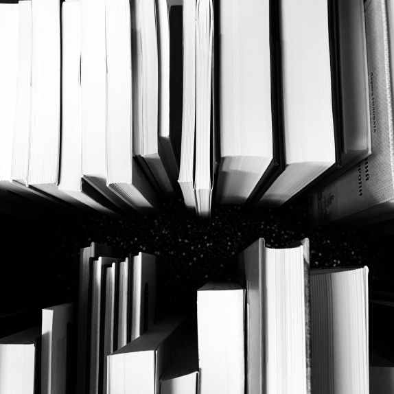 abstract art black and white books