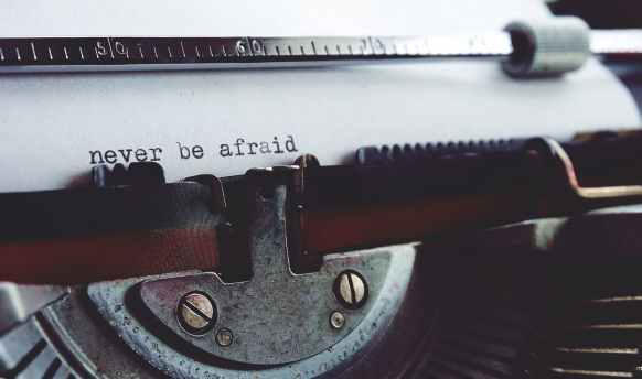 never be afraid on typewriter