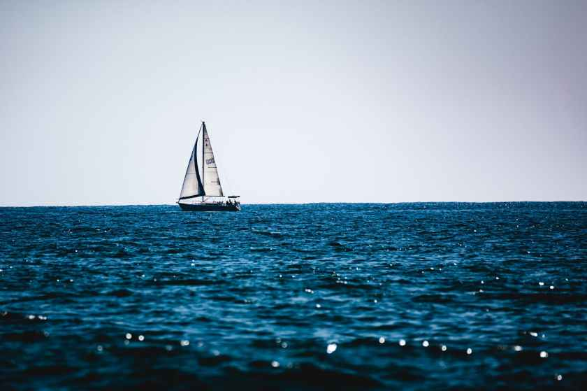 sail boat on the beach