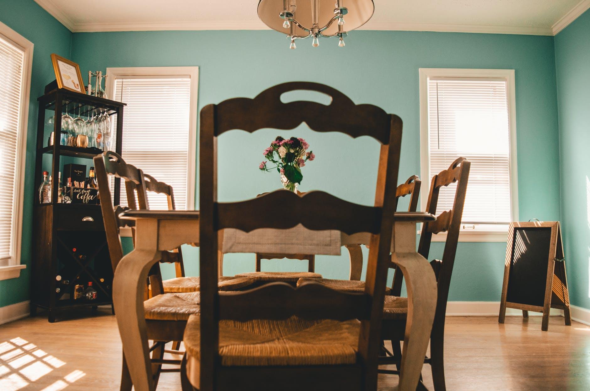 interior of dining room