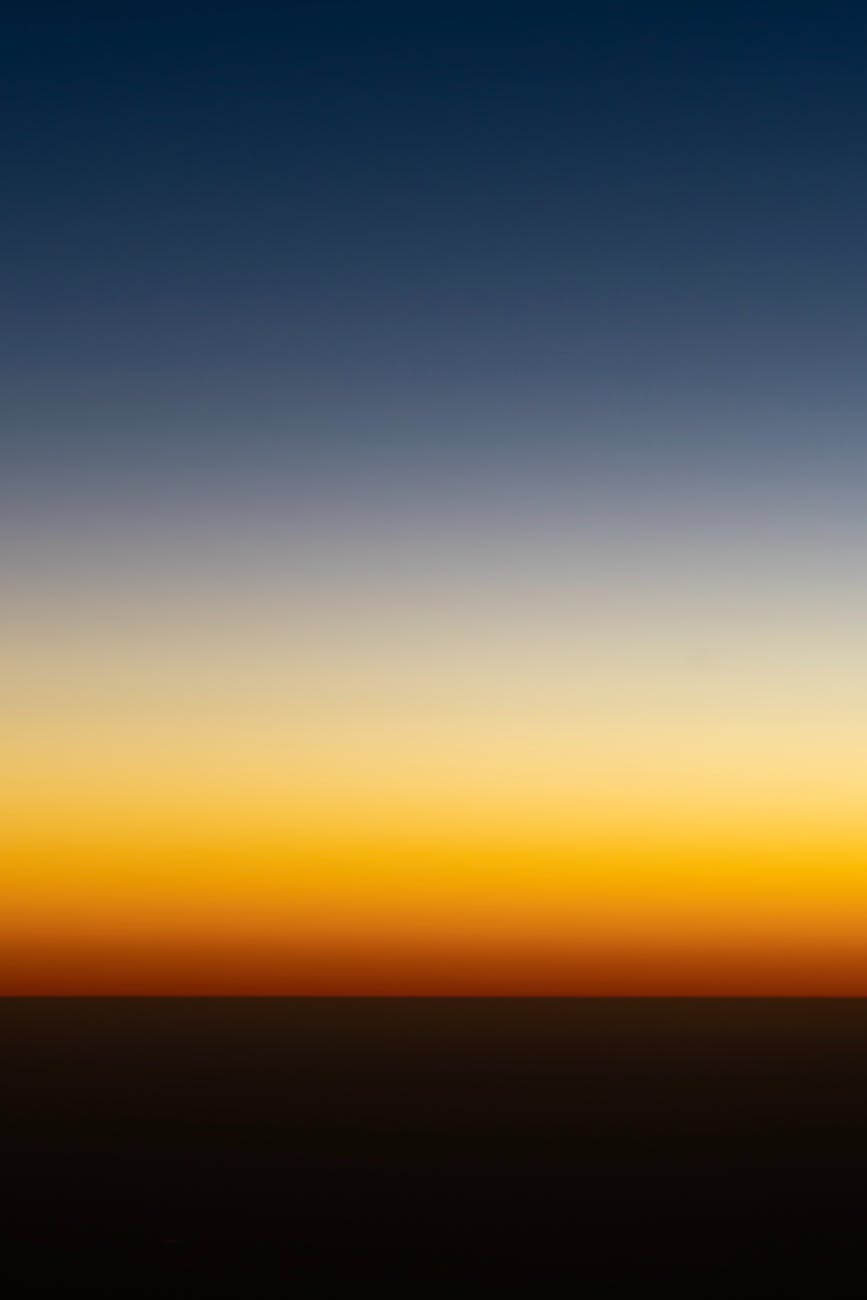 minimalist dark sky at sunset