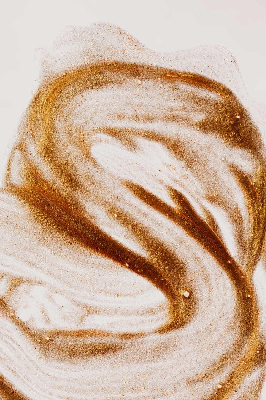brown dye texture on white paper