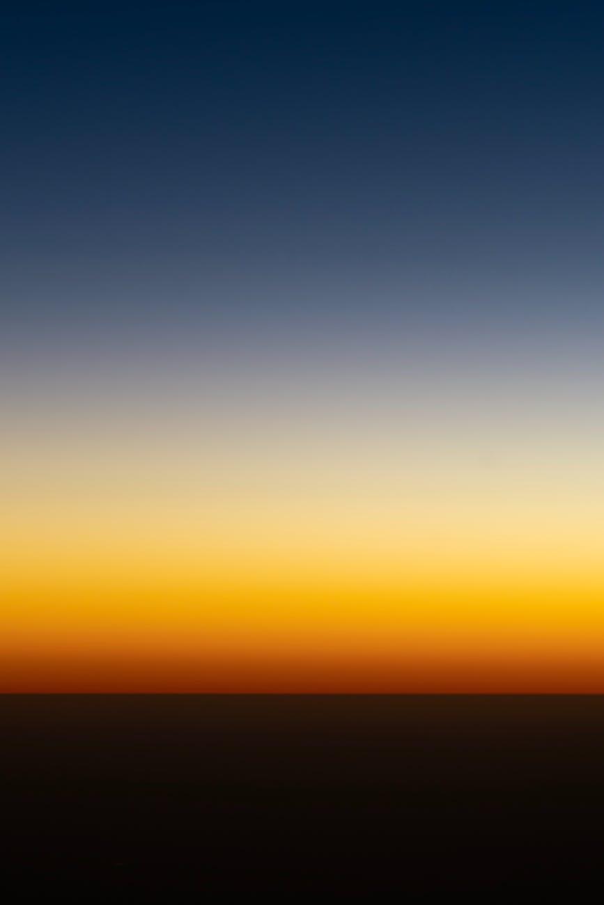 minimalist dark sky at sunset